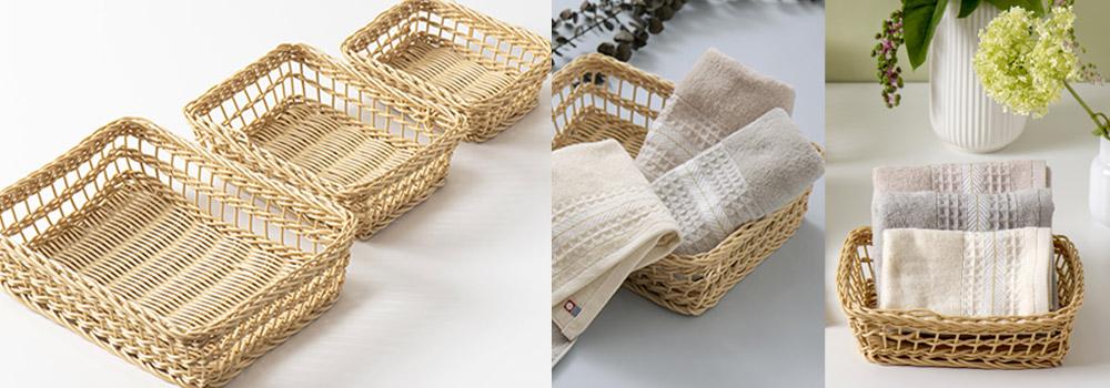 クラフル 手編みカゴ